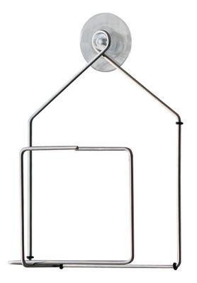 Outdoor - Dekoration und Gartenzubehör - Tipiou Futterstelle für Vögel / für die Fensterscheibe - Pa Design - Metall / Haus - Stahldraht