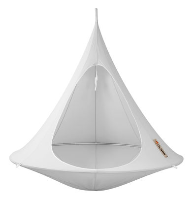 Outdoor - Sun Loungers & Hammocks - Hanging armchair by Cacoon - Light Grey - Cloth