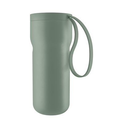 Tableware - Coffee Mugs & Tea Cups - Nordic kitchen Insulated mug - / 0.35L by Eva Solo - Faded green - Plastic, Silicone, Stainless steel