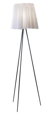 Illuminazione - Lampade da terra - Lampada a stelo Rosy Angelis di Flos - Grigio - Alluminio, Tessuto