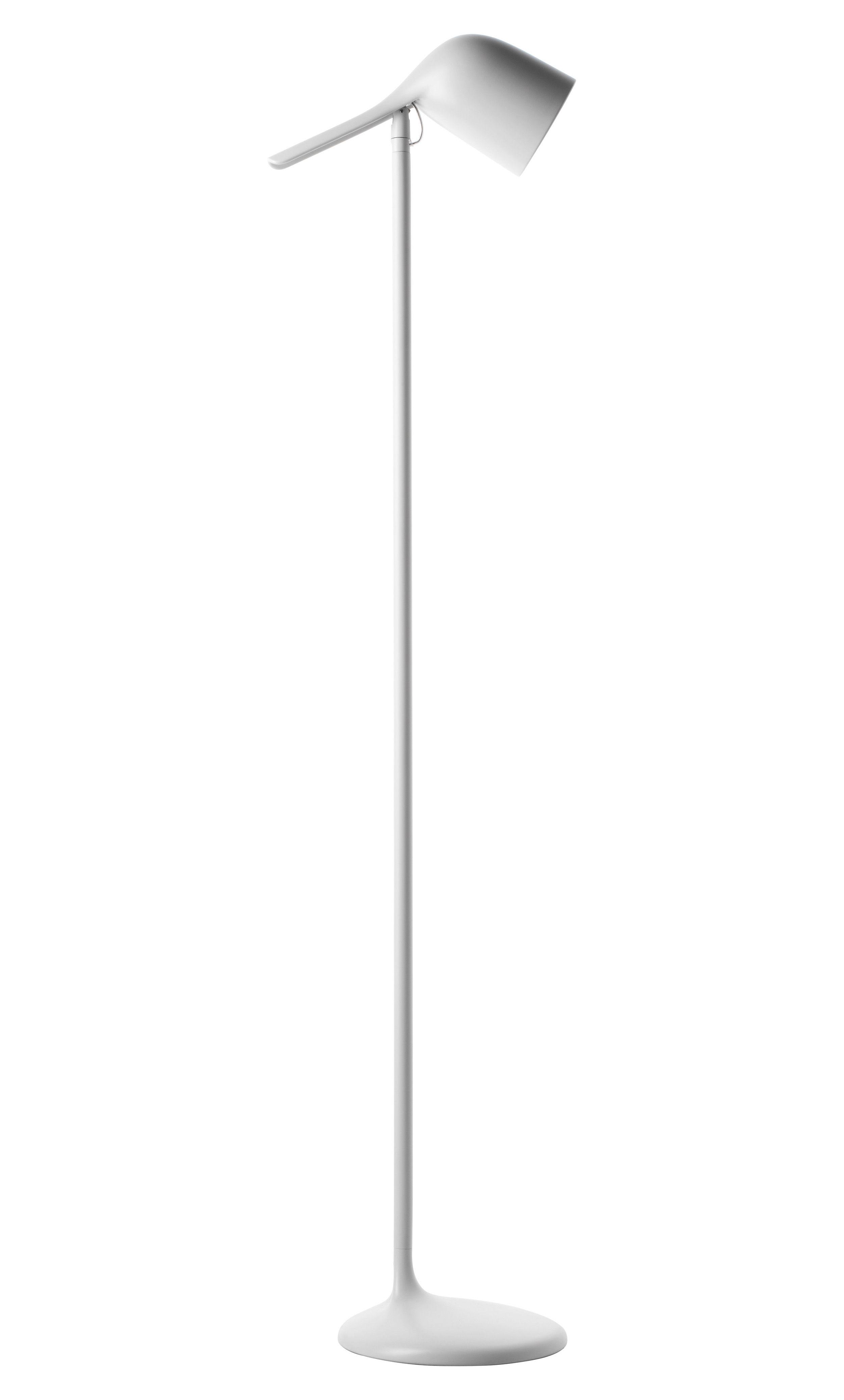 Luminaire - Lampadaires - Lampadaire Colibri / H 145 cm - Foscarini - Blanc - Aluminium, Polycarbonate
