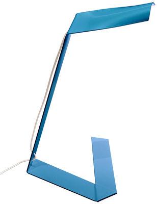 Lampe de table Elle / LED - Prandina bleu en métal