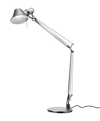 Lampe de table Tolomeo Mini LED / Avec détecteur de présence - Artemide aluminium en métal
