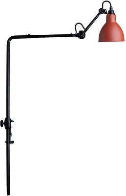 Lampe N°226 pour bibliothèque / Base étau - Lampe Gras - DCW éditions rouge,noir en métal