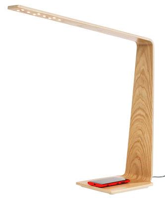 LED8 Lampe ohne Kabel / kabellose Smartphone-Ladestation - Tunto - Eiche