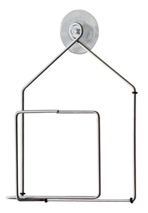 Outdoor - Déco et accessoires - Mangeoire à oiseaux Tipiou / Pour fenêtre - Pa Design - Métal / Maison - Fil d'acier