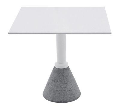 Table carrée One Bistrot / 79 x 79 cm - Magis blanc en métal