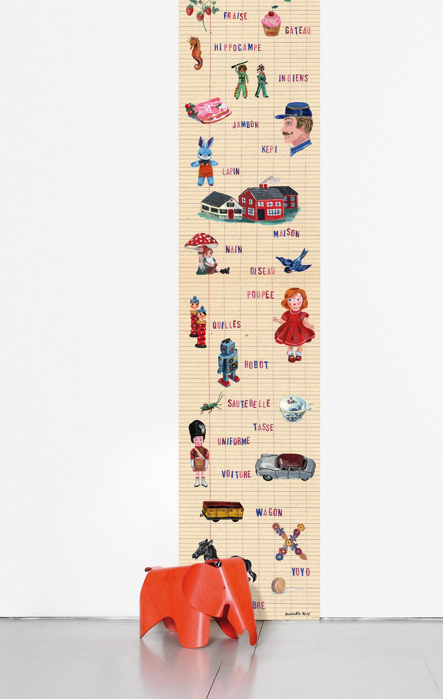 Déco - Stickers, papiers peints & posters - Papier peint Abécédaire / 1 lé - Domestic - Abécédaire / Multicolore - Papier intissé