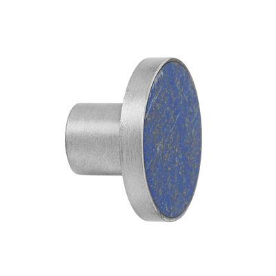 Patère Pierre / Poignée - Ø 4 cm - Ferm Living bleu en pierre