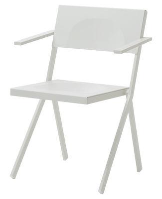 Arredamento - Sedie  - Poltrona impilabile Mia di Emu - Bianco - Acciaio, Alluminio