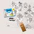 Poster da colorare Coloriage Pocket - Mini Atlas - / 52 x 38 cm di OMY Design & Play