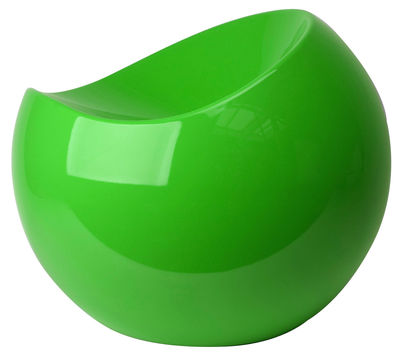 Furniture - Teen furniture - Ball Chair Pouf by XL Boom - Flashy green - Recycled lacquered ABS