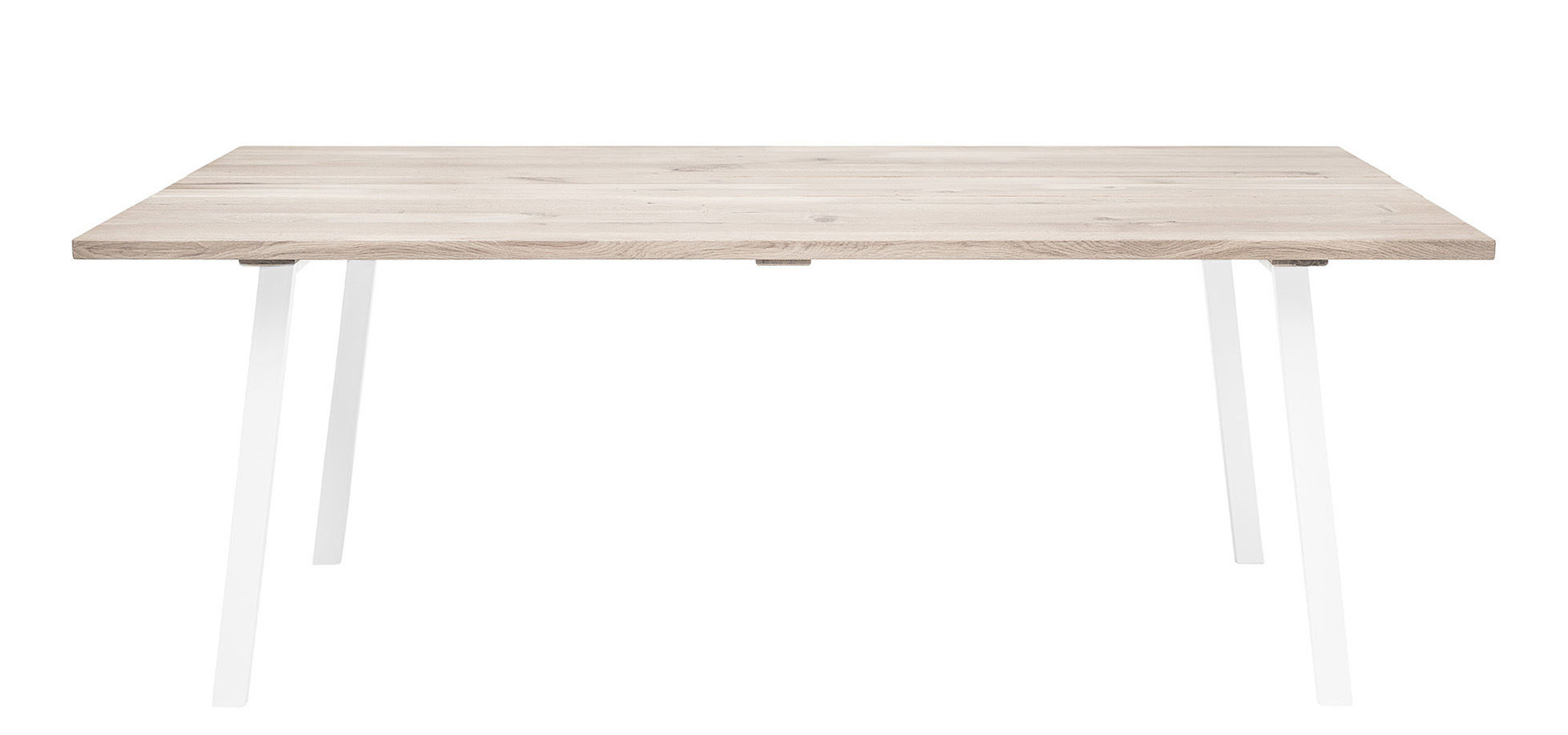 Möbel - Tische - Cozy rechteckiger Tisch / 200 x 95 cm - Holz & Metall - Bloomingville - Eiche & weiß - Eiche gebleicht geölt, lackiertes Metall