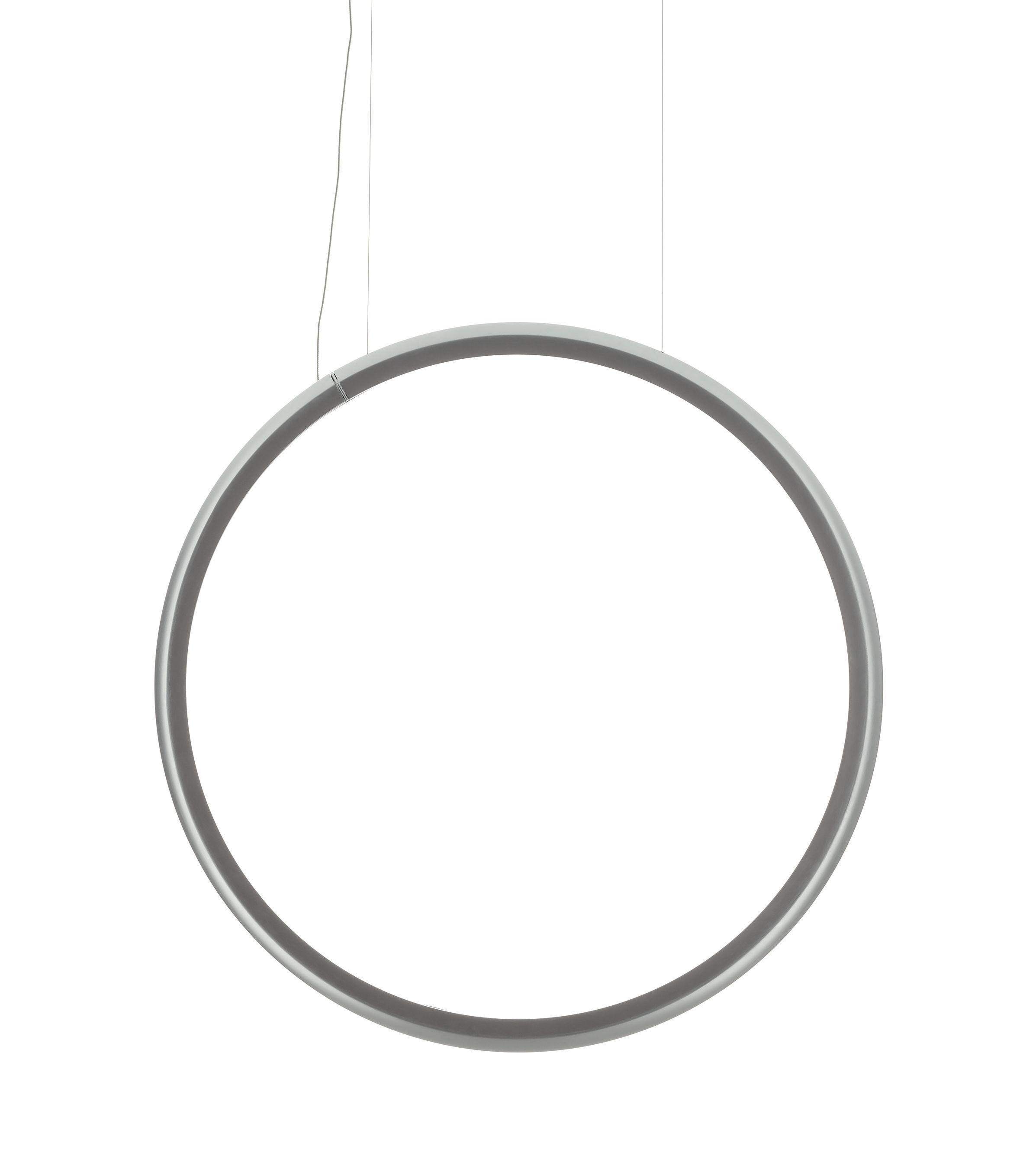 Illuminazione - Lampadari - Sospensione Discovery Vertical - / Ø 100 cm - Si connette allo smartphone di Artemide - Trasparente - Alluminio, Tecnopolimero