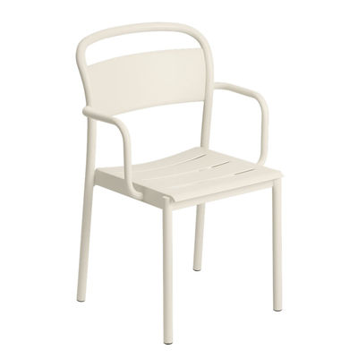 Furniture - Chairs - Linear Stackable armchair - / Steel by Muuto - White - Steel