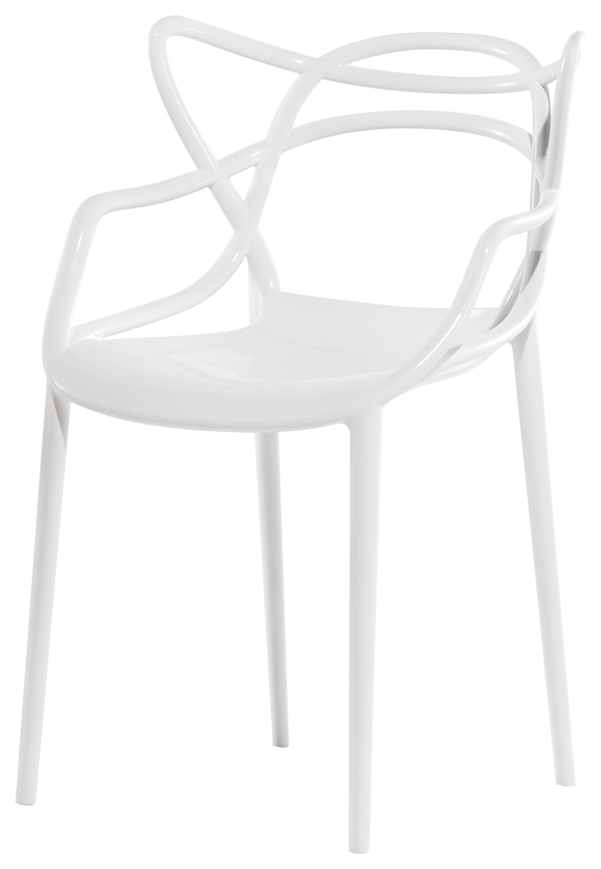 Furniture - Chairs - Masters Stackable armchair - / Plastic by Kartell - White - Polypropylene