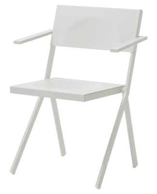 Furniture - Chairs - Mia Stackable armchair - Metal by Emu - White - Aluminium, Steel