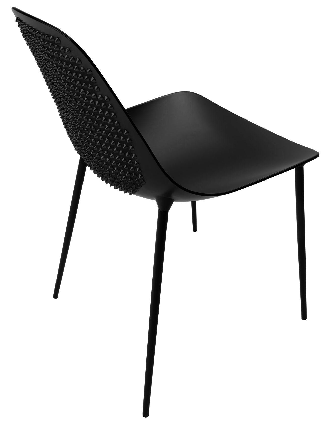 Möbel - Stühle  - Mammamia Punk Stuhl / mit Nieten versehen - Sitzschale & Stuhlbeine Metall - Opinion Ciatti - Schwarz / mit Nieten versehen - Aluminium, Metall