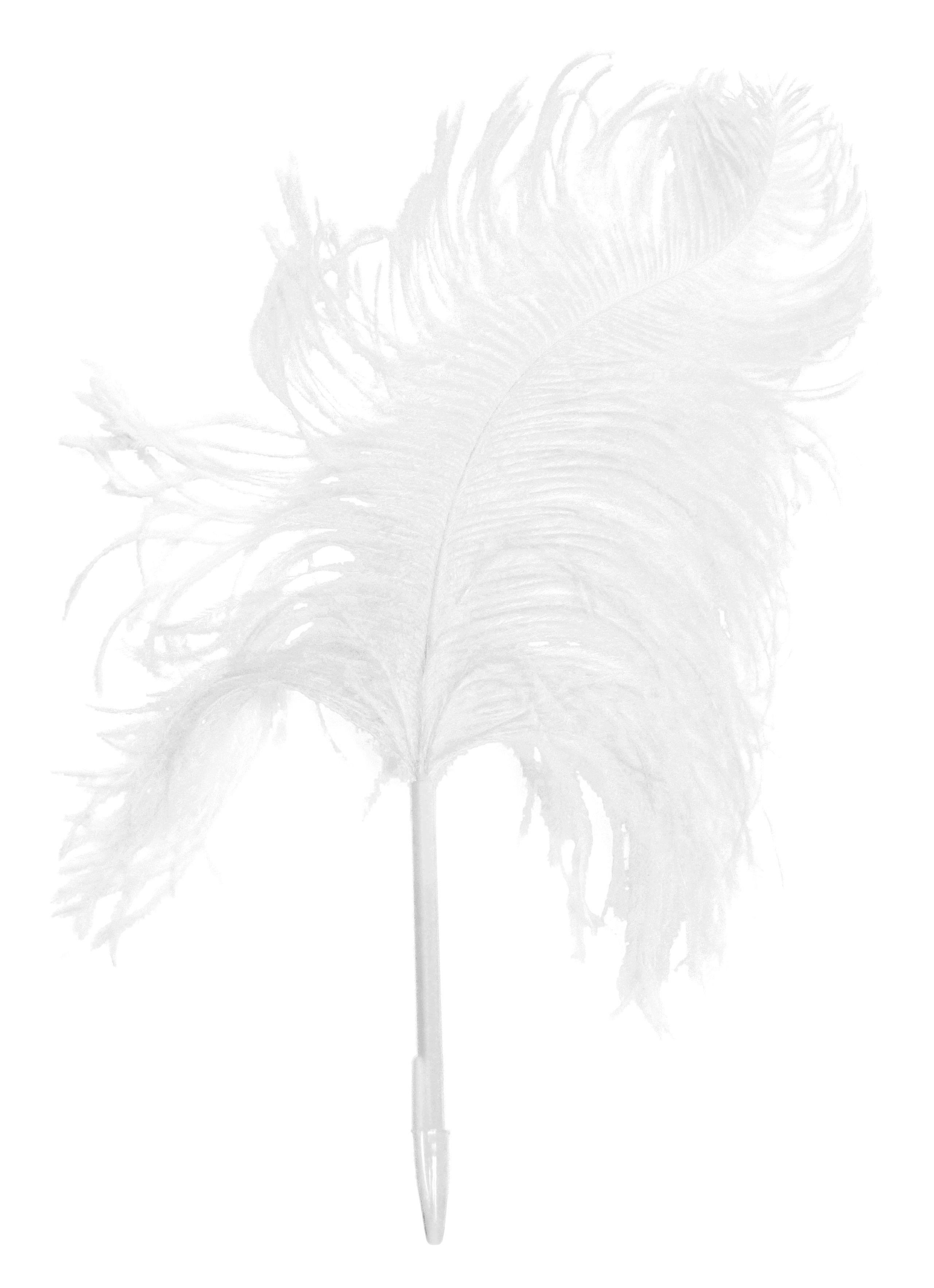 Déco - Accessoires bureau - Stylo Plume d'autruche - Maison Martin Margiela - Blanc - Plastique, Plume