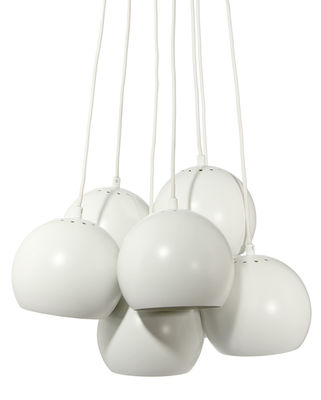 Suspension Ball / Set de 7 - Frandsen blanc mat en métal