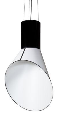 Suspension Grand Cargo H 117 cm - Designheure blanc,noir en tissu