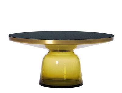 Table basse Bell Coffee / Ø 75 x H 36 cm - Plateau verre - ClassiCon jaune en verre
