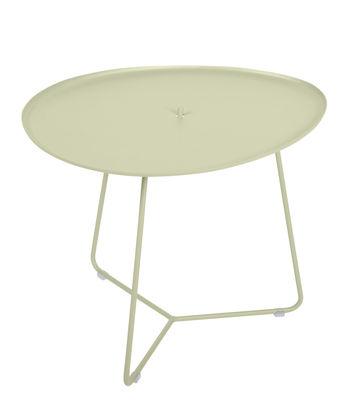 Table basse Cocotte / L 55 x H 43,5 cm - Plateau amovible - Fermob tilleul en métal