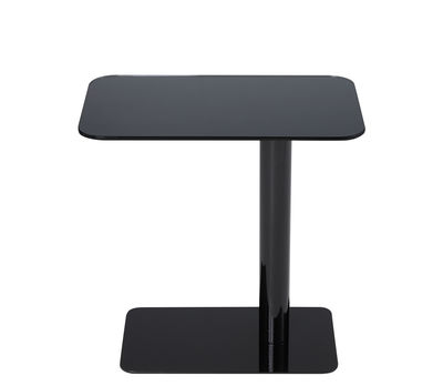 Mobilier - Tables basses - Table basse Flash / Verre - 50 x 30 x H 40 cm - Tom Dixon - Noir / Pied noir - Acier laqué, Verre
