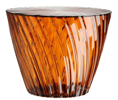 Table basse Sparkle / Ø 45 x H 35 cm - Kartell orange/marron en matière plastique