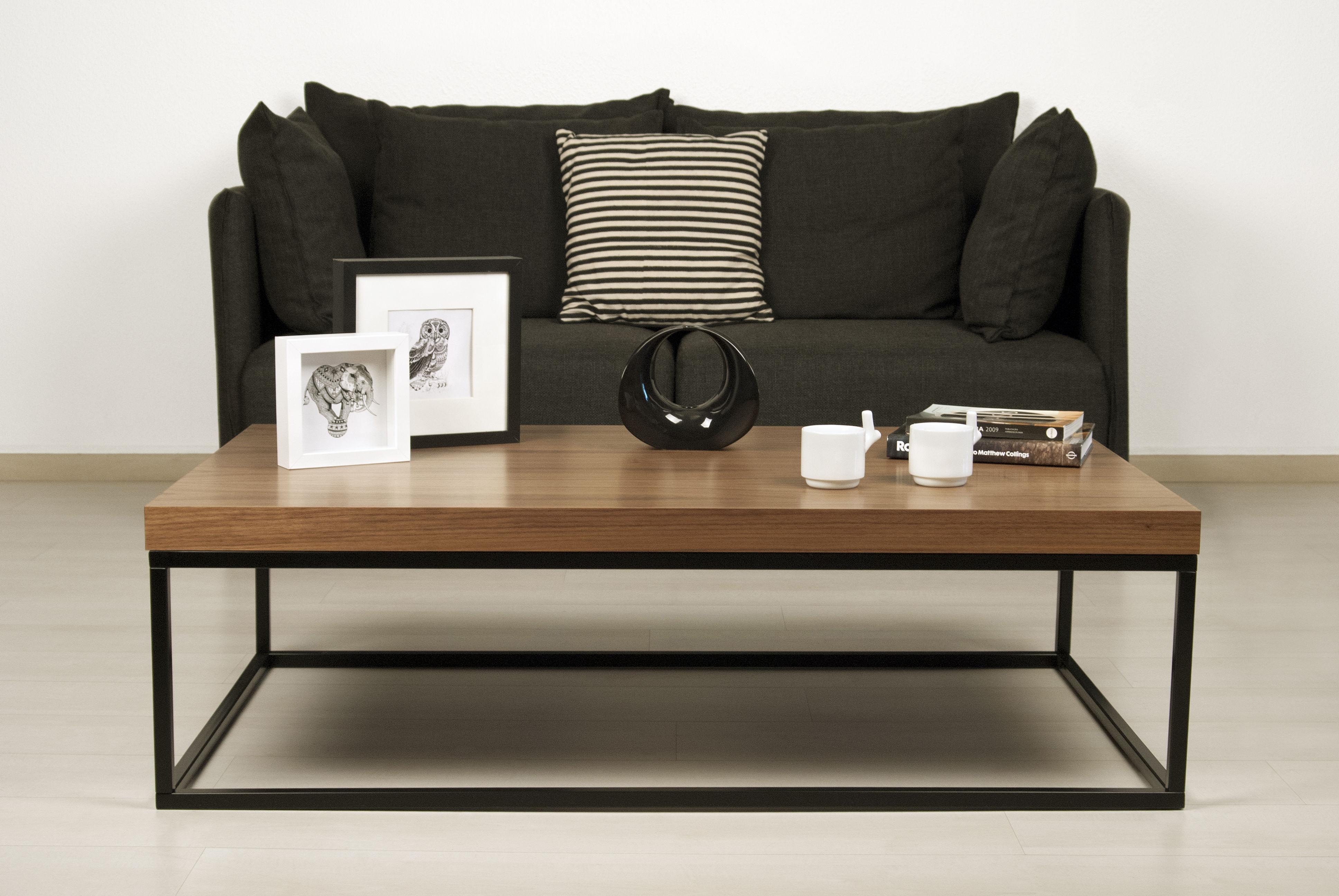 Basse Table Rectangulaire Noyer Pop Up Wallnut Home PZOXiukT
