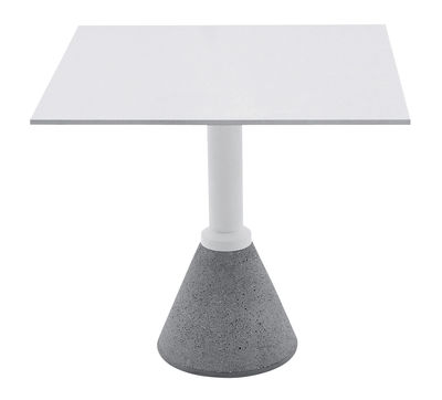 Table carrée One Bistrot / 79 x 79 cm - Magis blanc en métal