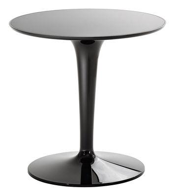 Mobilier - Tables basses - Table d'appoint Tip Top Mono / Monochrome -  Plateau PMMA - Kartell - Laqué noir - PMMA