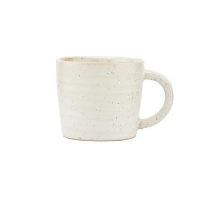 Arts de la table - Tasses et mugs - Tasse à espresso Pion / Porcelaine - House Doctor - Blanc-gris - Porcelaine émaillée