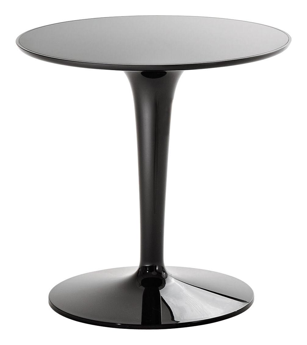 Arredamento - Tavolini  - Tavolino d'appoggio Tip Top Mono - versione monocolore di Kartell - Nero lucido - PMMA