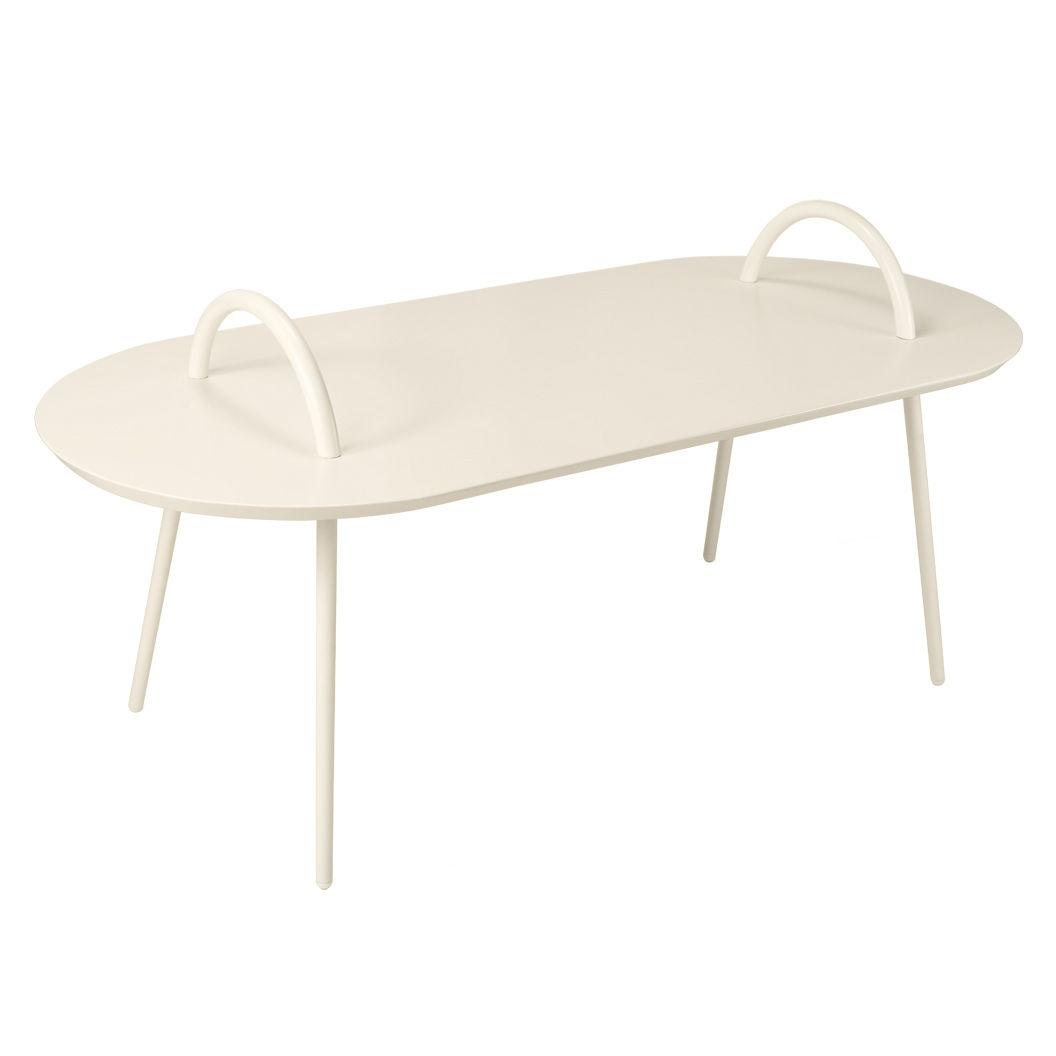 Arredamento - Tavolini  - Tavolino Swim - / Metallo - 118 x 52,5 cm di Bibelo - Beige - Acciaio laccato epossidico