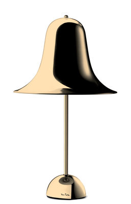 Pantop Small Ø 30 cm Tischleuchte / Verner Panton (1980) - Verpan - Messing Poliert