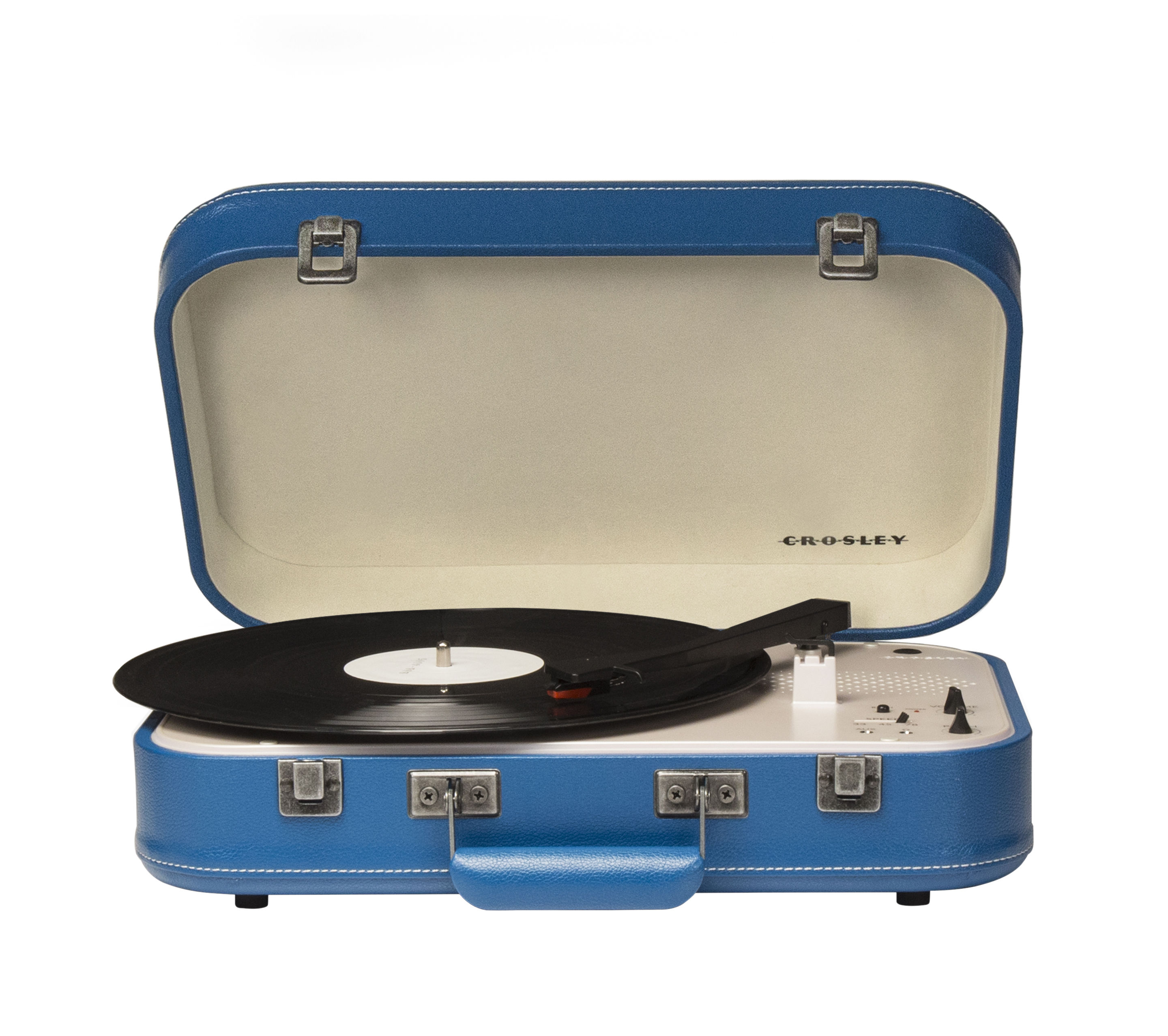 Valentine's day - Valentines Day: Our best ideas for Him - Coupe Turntable - / portable - Bluetooth by Crosley - Blue - Felt, Imitation leather, Plastic material, Wood