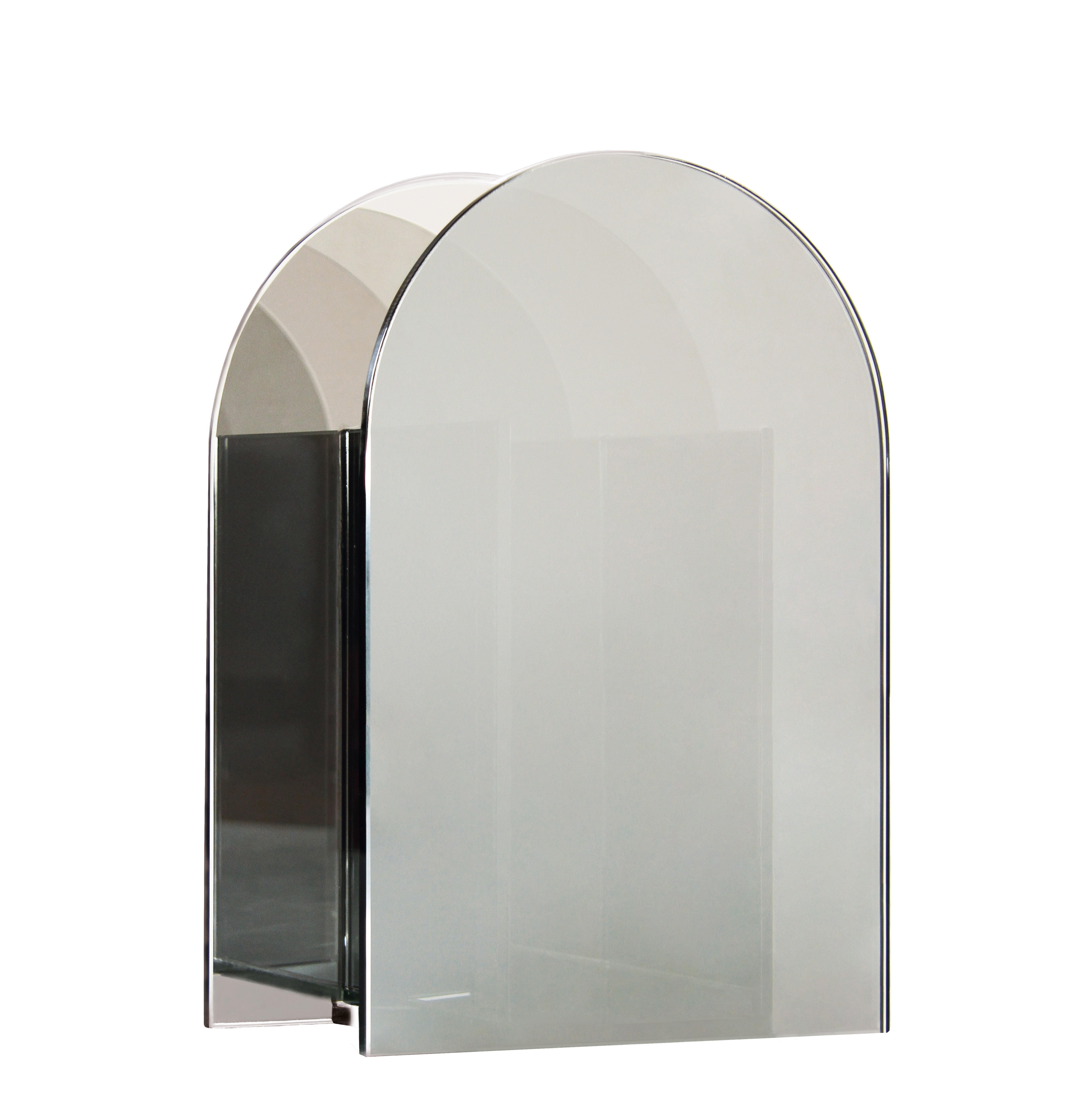 Déco - Vases - Vase Arch Reflection / H 26 cm - Verre - & klevering - Argenté - Verre teinté