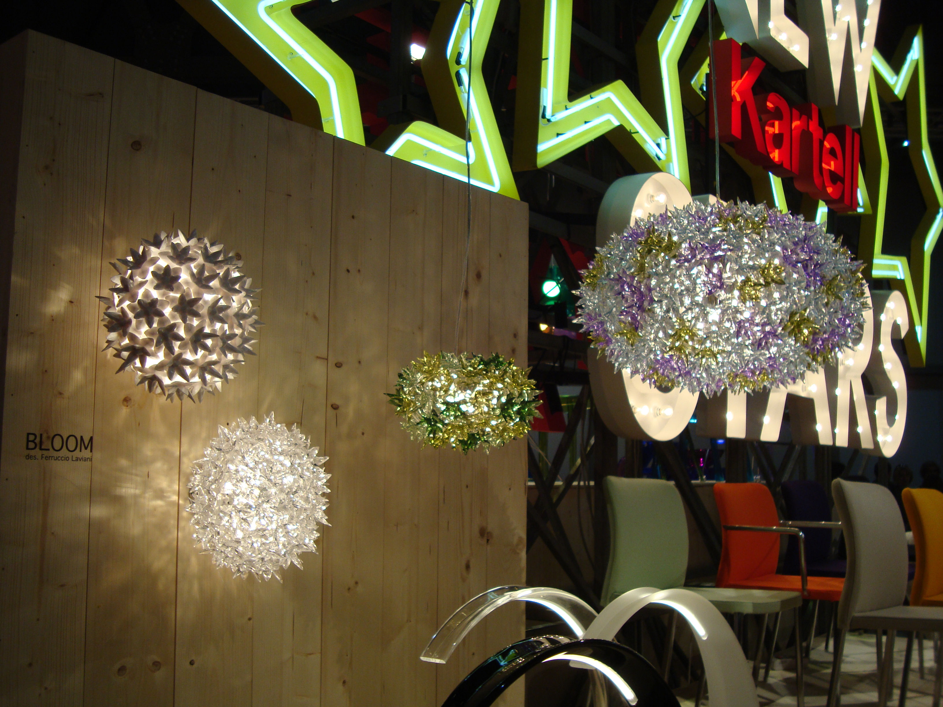 Wall light bloom by kartell crystal Ø 28 made in design uk
