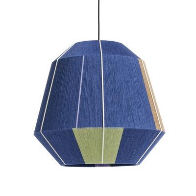 Luminaire - Lampes de table - Abat-jour Bonbon Large / Ø 50 cm - Laine tissée main - Hay - Bleu - Acier, Laine, Nylon