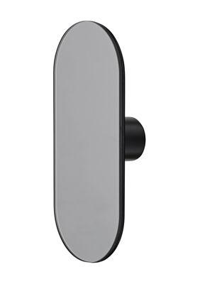 Image of Appendiabiti Ovali - / Specchio - L 7 x  H16 cm di AYTM - Grigio fumo - Vetro