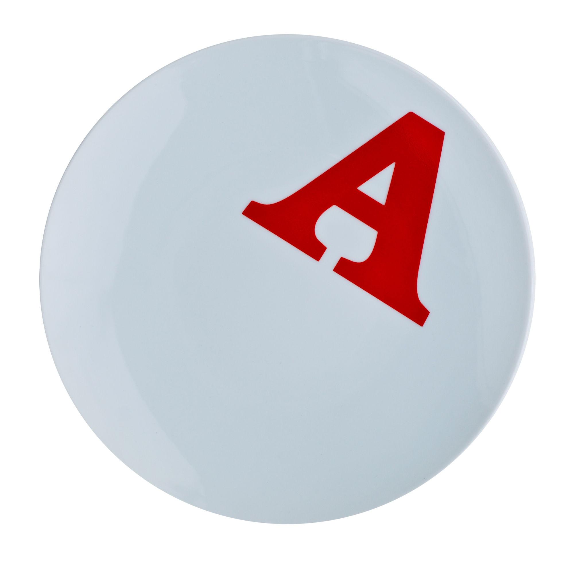 Arts de la table - Assiettes - Assiette Typo Collection lettre A / Ø 26 cm - Typo - A - Porcelaine