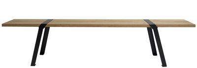 Möbel - Bänke - Pi Bank / L 160 cm - für innen und außen - Moaroom - Schwarz - bemalter Stahl, massive Eiche