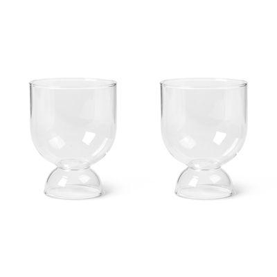 Tavola - Bicchieri  - Bicchiere Still - / Set di 2 - Vetro soffiato a bocca di Ferm Living - Trasparente - Vetro soffiato a bocca