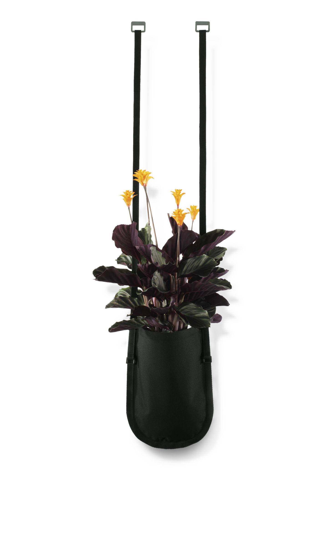 Outdoor - Töpfe und Pflanzen - Urban Garden Bag Blumentopf zum Aufhängen Tasche zum Aufhängen mit Gurt - 2,5 L - Authentics - Pflanztasche Größe M - 2,5 Liter / Schwarz - Polyester-Gewebe