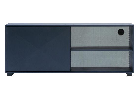 Mobilier - Commodes, buffets & armoires - Buffet Diamant L 161 cm - Tolix - Bleu nuit - Acier recyclé laqué