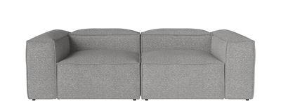 Canapé modulable Cosima Tissu / 2 modules - petit angle - L 240 cm - Bolia gris clair en tissu
