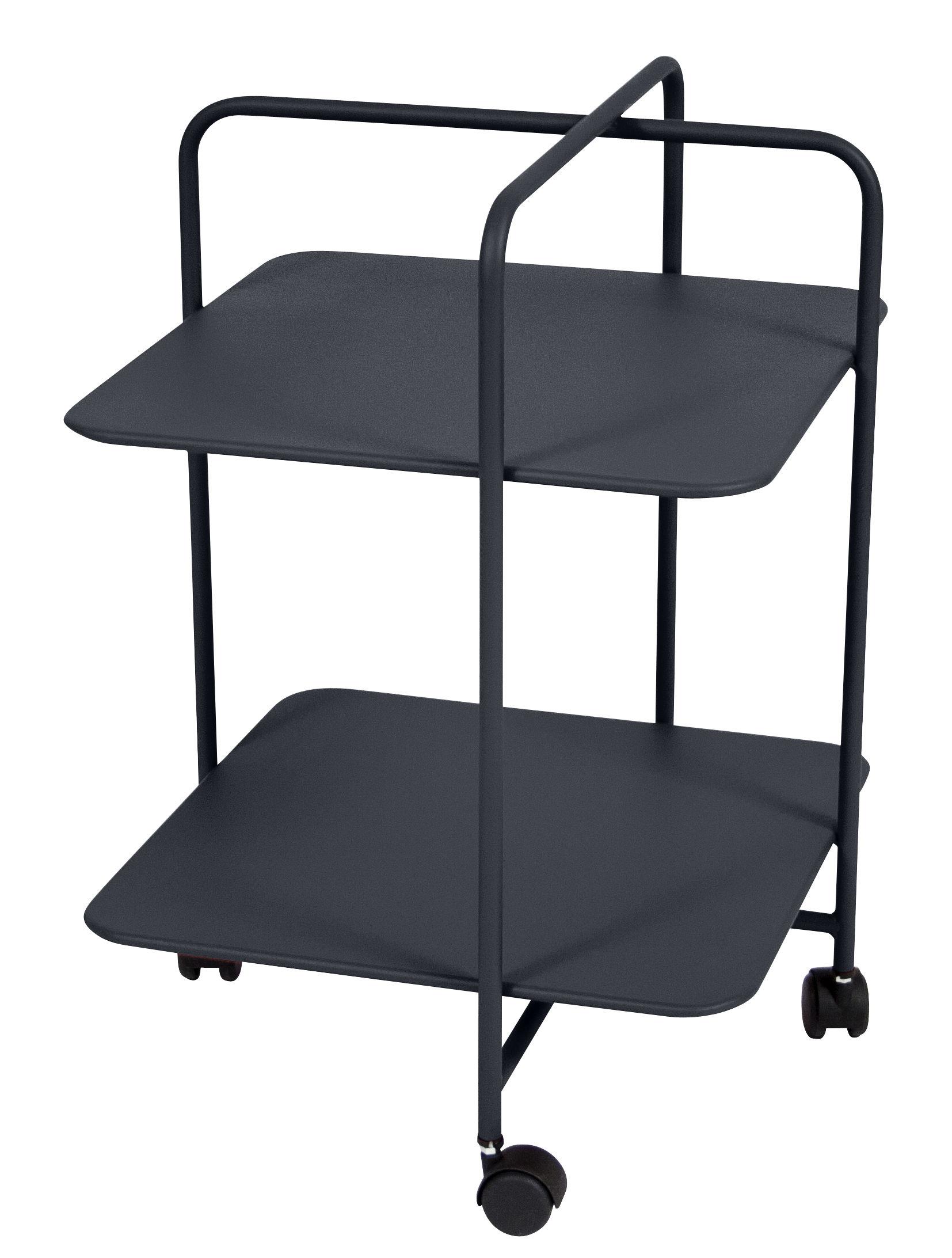 Arredamento - Tavolini  - Carrello bar Alfred / Pascal Mourgue - Fermob - Carbone - Acciaio, Plastica