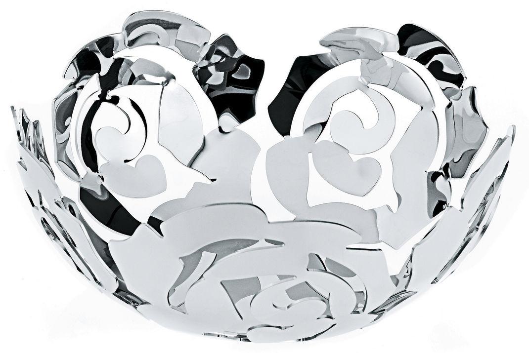 Accessori moda - Accessori bagno - Cesto La Rosa di Alessi - Ø 21 cm - Acciaio brillante - Acciaio inossidabile