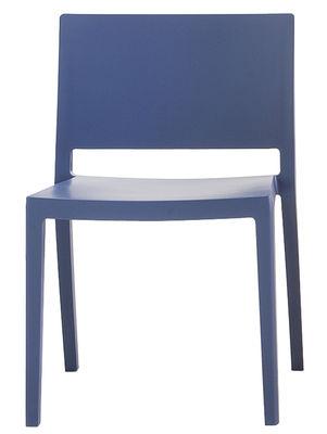Mobilier - Chaises, fauteuils de salle à manger - Chaise empilable Lizz / Version mate - Kartell - Bleu mat - Technopolymère
